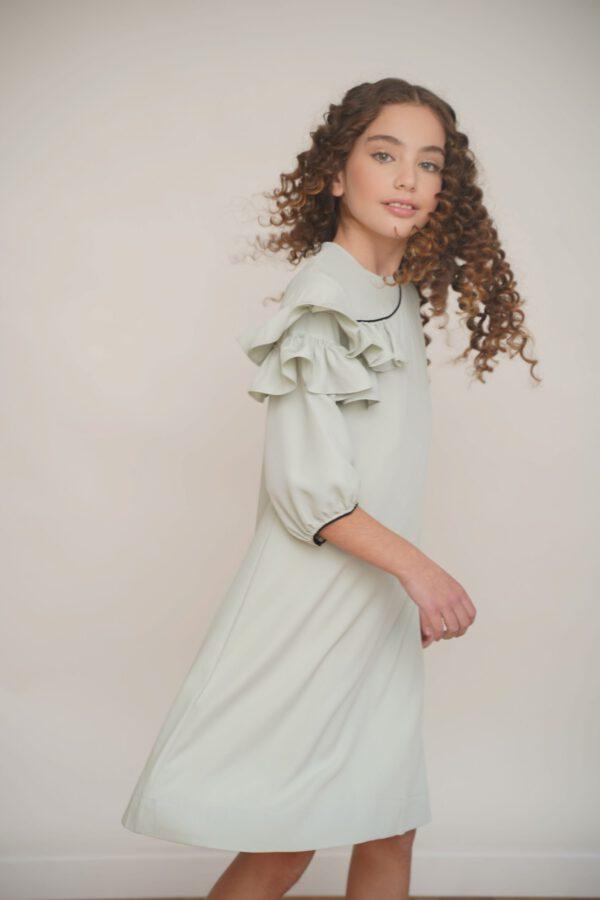 שמלת חגיגית בצבע מנטה